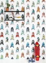 Rocket wallpaper by Studio Ditte