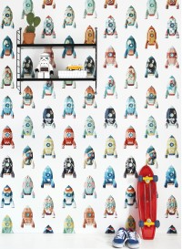 Rocket wallpaper by Studio Ditte
