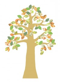 Tree 2 - vintage wallpaper by Inke