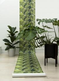 Safari Leaf trompe l'oeil wallpaper