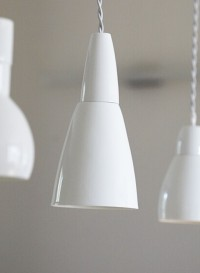 Cone pendant light designed by Kathleen Hills