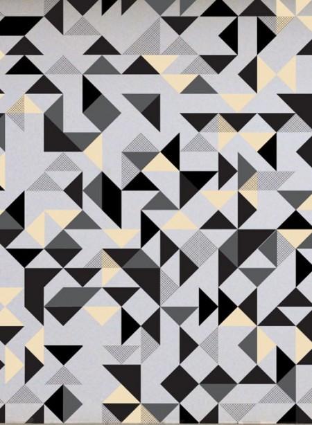 Bermondsey Square, papier-peint géométrique par Custhom