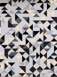 Bermondsey Square reflection geometric wallpaper