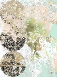 Lace-Rose transitional wallpaper by Lene Toni Kjeld