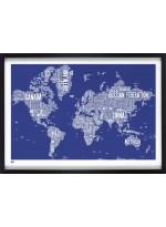 Affiche Plan du Monde par Bold & Noble