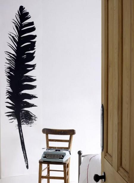 Feathers, panneaux de papier plumes par Tracy Kendall