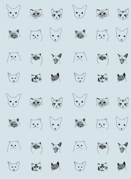 Cats Wallpaper designed by Eliza Fricker