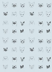Cats wallpaper designed by Eliza Fricker for Baines&Fricker