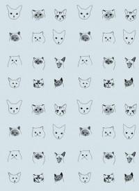 Papier-peint enfant Cats par Elisa Fricker