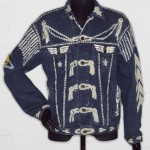 Denim jacket, 'BLITZ', by Levi Strauss & Co., customised by Vivienne Westwood Date: 1986 © Victoria & Albert Museum, London