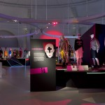 Installation image of From Club to Catwalk: London Fashion in the 1980s © Victoria & Albert Museum, London