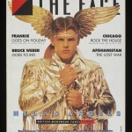 Front cover from The Face (Hell'Äôs Angels Cover)  Artist: Lloyd Johnson gold jacket, on display in exhibition  Date: The Face, no. 77, September 1986  © Eamonn Mccabe