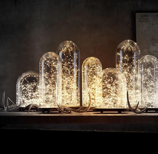 cloche et lucioles lumineuses pour une décoration chaudes et recherchée-bazarandco-store.com