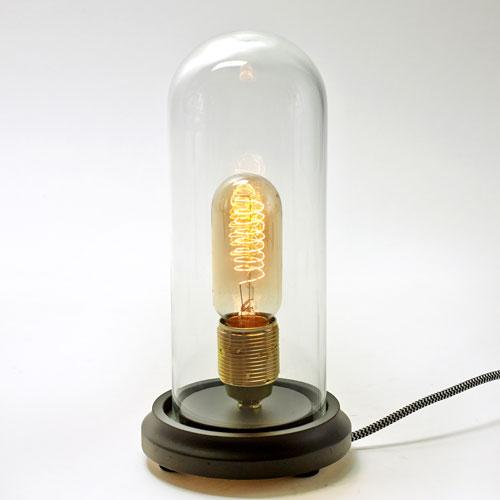 lampe-serax-ampoule filament globe verre socle brun:noir