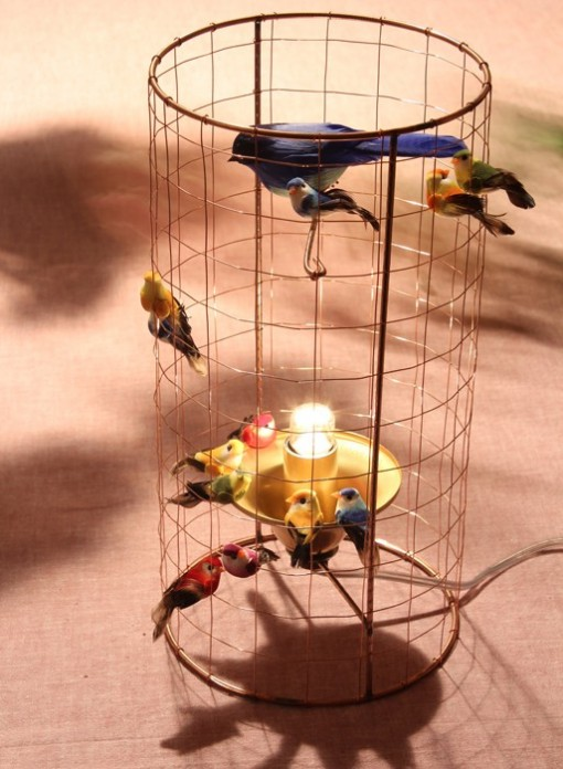 lampe cage a oiseaux voliere de mathieu challieres the collection. Black Bedroom Furniture Sets. Home Design Ideas