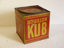 Boîte bouillon KUB vintage