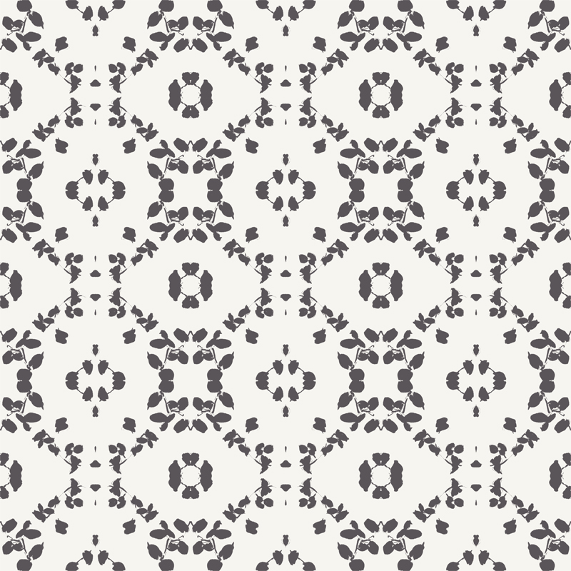 Leaf Black Transitional Wallpaper by Lene Toni Kjeld