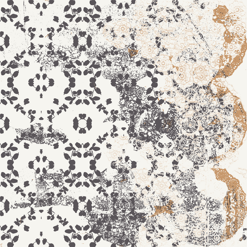Leaf - Lace Black Transitional Wallpaper by Lene Toni Kjeld