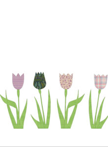 Inke lilac tulips