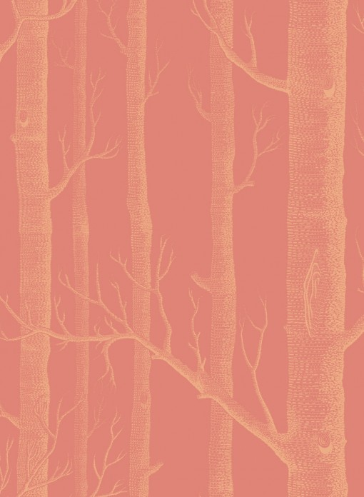 Papier peint Woods doré et terracotta Cole and Son
